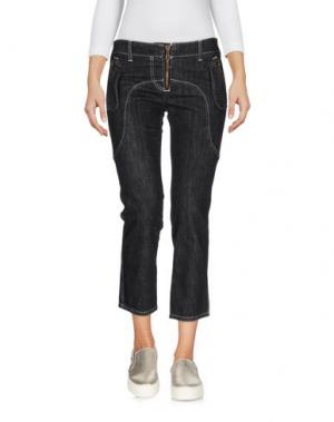 Джинсовые брюки-капри FRANKIE MORELLO. Цвет: черный