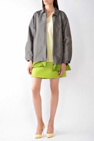 Куртка Prada. Цвет: серый/зеленый