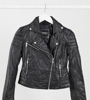 Кожаная куртка Barneys Originals Petite Clara-Черный цвет Barney s Original