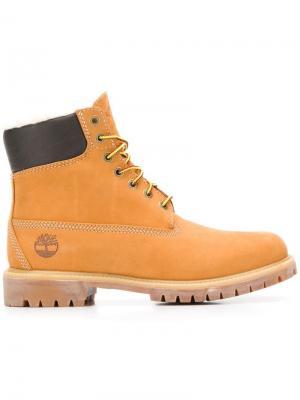 Ботинки со шнуровкой Timberland. Цвет: бежевый
