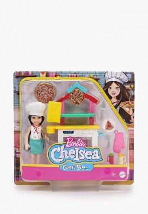 Кукла Barbie Челси пицца-шеф с кухней и духовкой. Цвет: разноцветный