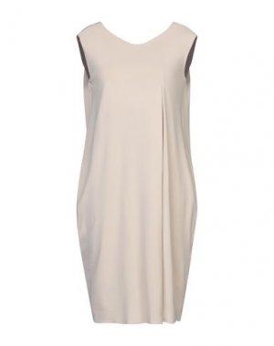 Платье до колена B.YU. Цвет: телесный