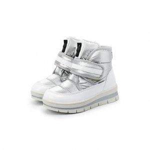Утепленные ботинки Jog Dog. Цвет: серебряный