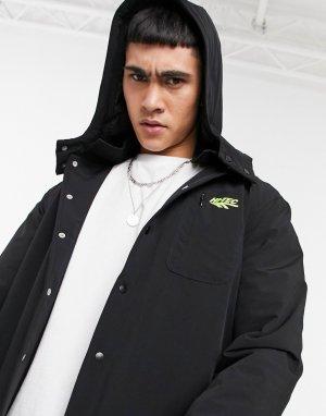 Черная куртка со съемным капюшоном -Черный цвет Hi-Tec