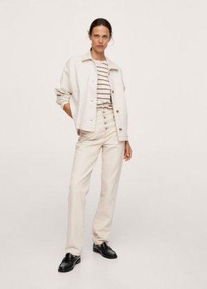Джинсовая куртка с карманами - Celia-i Mango. Цвет: экрю