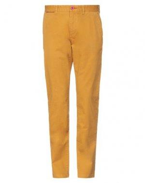 Повседневные брюки FRED MELLO. Цвет: охра