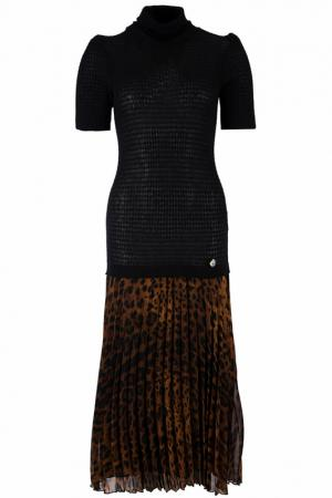 Платье Class Cavalli. Цвет: леопардовый
