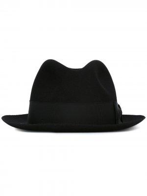 Фетровая шляпа Borsalino. Цвет: черный