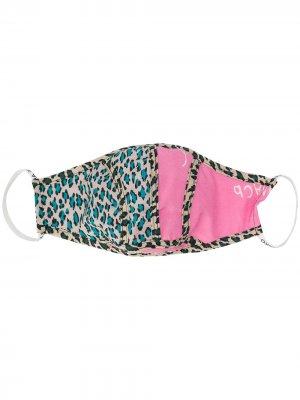 Маска для лица с леопардовым принтом Natasha Zinko. Цвет: розовый