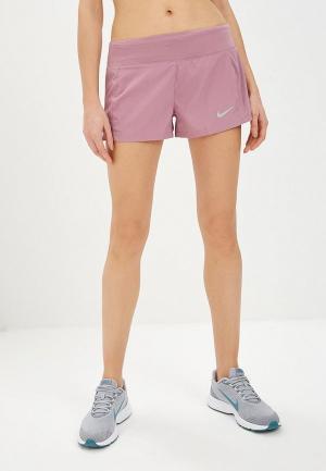 Шорты спортивные Nike WOMENS ECLIPSE 3 RUNNING SHORTS. Цвет: фиолетовый