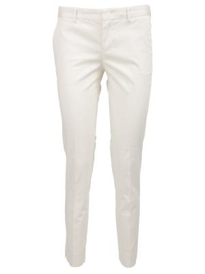 Хлопковые брюки PT0W. Цвет: белый