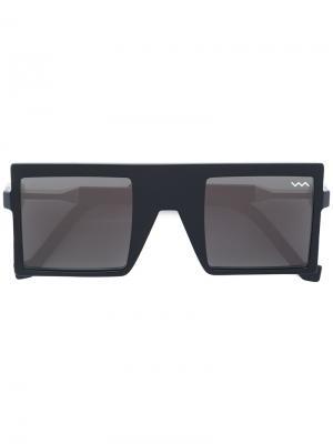 Солнцезащитные очки в квадратной оправе Vava. Цвет: чёрный