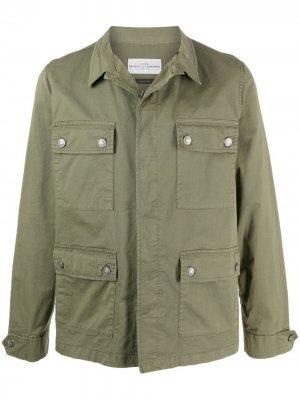 Джинсовая куртка с карманами Daniele Alessandrini. Цвет: зеленый