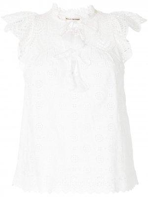 Блузка Calliope с вышивкой Ulla Johnson. Цвет: белый