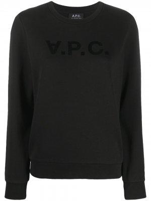 Футболка с логотипом A.P.C.. Цвет: черный