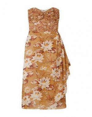 Короткое платье ANNA SUI. Цвет: верблюжий