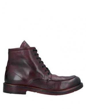 Полусапоги и высокие ботинки JP/DAVID. Цвет: красно-коричневый