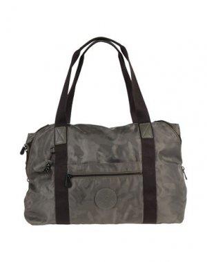 Дорожная сумка KIPLING. Цвет: зеленый-милитари