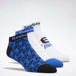 Носки Running Club, 3 пары Reebok. Цвет: humble blue / white / white