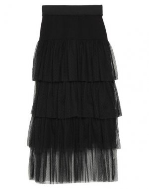 Длинная юбка MARIUCCIA. Цвет: черный