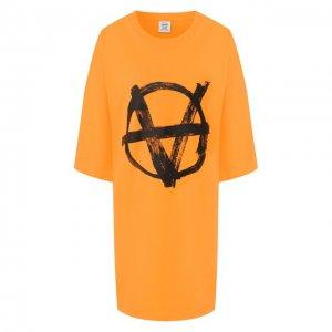 Футболка Vetements. Цвет: оранжевый
