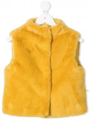 Жилет из искусственного меха Il Gufo. Цвет: желтый