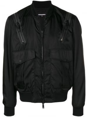 Куртка-бомбер с карманами Dsquared2
