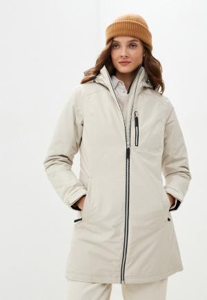 Куртка утепленная Helly Hansen W LONG BELFAST WINTER JACKET. Цвет: бежевый