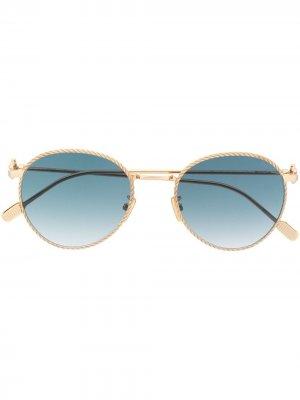 Солнцезащитные очки Force 10 в круглой оправе Fred. Цвет: золотистый