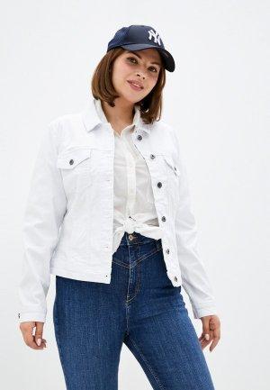 Куртка джинсовая Only Carmakoma. Цвет: белый
