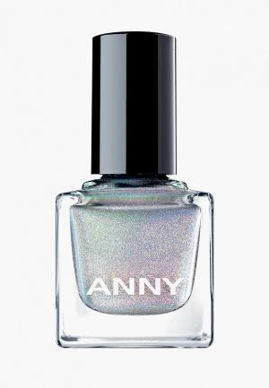 Лак для ногтей Anny тон 702 голографик серебро. Цвет: серебряный