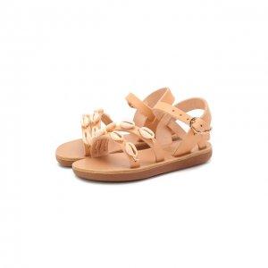 Кожаные босоножки Ancient Greek Sandals. Цвет: бежевый