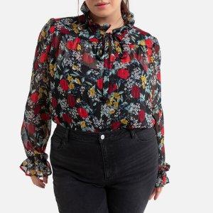 Блузка La Redoute. Цвет: черный