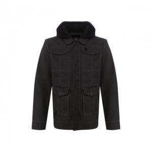 Хлопковая куртка Black Label Harley-Davidson. Цвет: чёрный