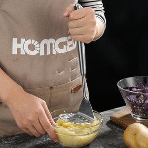Ручная чесночная соковыжималка из нержавеющей стали SHEIN. Цвет: серебряные