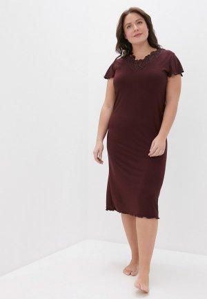 Платье домашнее El Fa Mei. Цвет: бордовый