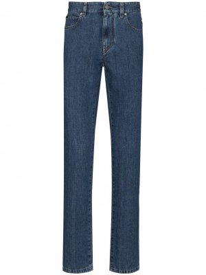 Узкие джинсы средней посадки Z Zegna. Цвет: синий