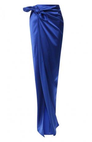 Юбка-макси Balenciaga. Цвет: синий