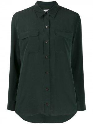 Рубашка с накладными карманами Equipment. Цвет: зеленый