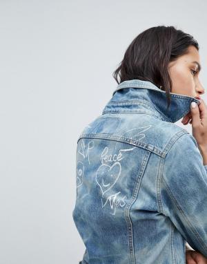 Джинсовая куртка с логотипом Vivienne Westwood Anglomania. Цвет: синий