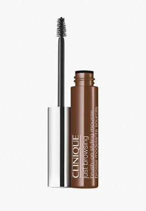 Гель для бровей Clinique Just Browsing Brush-On Styling Mousse, Deep Brown,  2 мл. Цвет: коричневый