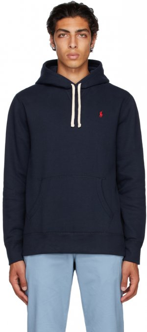 Navy Fleece Logo Hoodie Polo Ralph Lauren. Цвет: cruise nav
