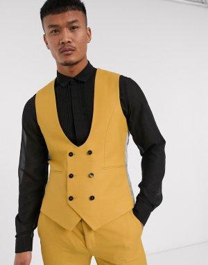 Темно-желтый жилет Twisted Tailor