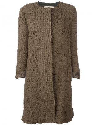 Пальто с рукавами три четверти By Walid. Цвет: зелёный