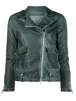 Куртка с эффектом потертости Giorgio Brato. Цвет: зеленый