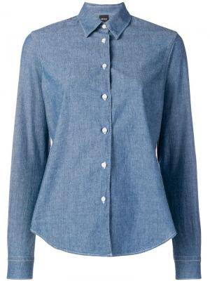 Рубашка с длинными рукавами Aspesi. Цвет: синий
