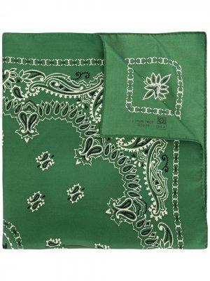 Бандана с вышивкой Tory Burch. Цвет: зеленый