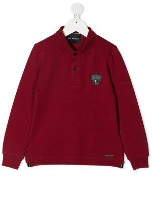 Рубашка поло с нашивкой-логотипом John Richmond Junior. Цвет: красный