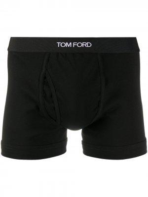 Боксеры с логотипом Tom Ford. Цвет: черный