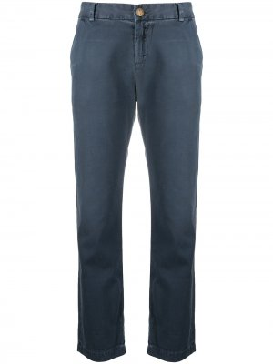 Укороченные брюки с подворотами Current/Elliott. Цвет: синий